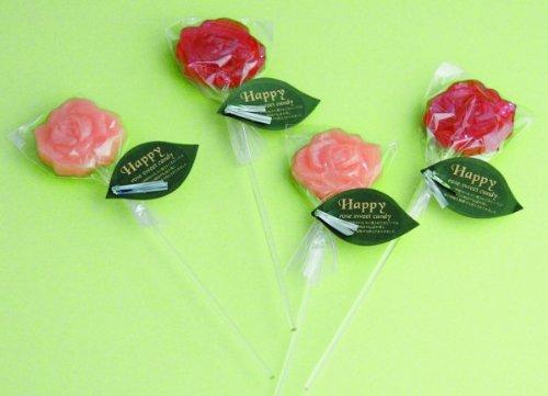薔薇のスティックキャンディーのプチギフト ブルーベリーヨーグルト味