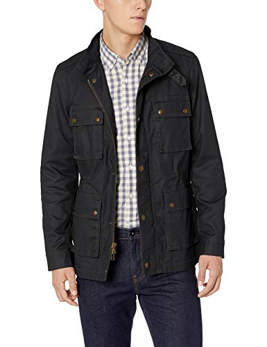 Goodthreads Men's Moto Jacket, Black, Medium