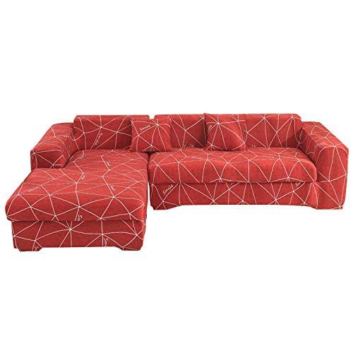 NOBCE Funda de sofá elástica Estirada Envoltura Ajustada Fundas de sofá Todo Incluido para Sala de Estar Funda de sofá Silla Funda de Almohada Funda de Almohada 235-300CM