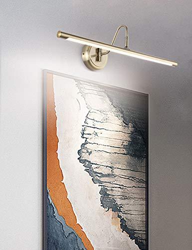 ECOBRT - Lámpara de pared LED de 42 cm - Moderna lámpara de pared ajustable para dos imágenes con acabado de latón envejecido - Lámpara de imágenes