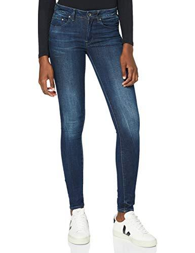 G-STAR RAW Damen Jeans Midge Zip Mid Waist Skinny, Blau (Dk Aged 6553-89), 29W / 32L
