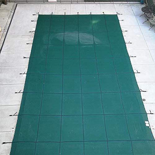 HWF Pool Cover Poolabdeckplane Pool Sicherheitsabdeckung Winter, Rechteck Inground Safety Pool Abdeckung, Green Mesh Solid Pool Sicherheitsabdeckung für In Ground Swimming Pool