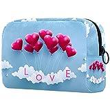 Bolsa de cosméticos para mujeres, adorables bolsas de maquillaje espaciosas para viajes, accesorios para artículos de tocador, regalos hermosa pintura al óleo