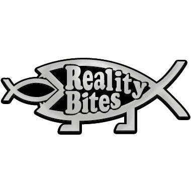 """Reality Bites Fish Chrome Auto Emblem - 4.75"""" x 2"""""""