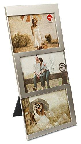 balvi Fotorahmen Dijon Silber Fassungsvermögen: 3 Fotos mit den Abmessungen 10 x 15 cm Fotorahmen Tischmodell Kunststoff 34 x 16 cm