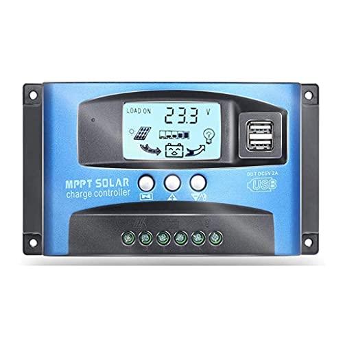 Solar Laderegler Ladekarten Controller MPPT 12 V 24 V 40/50/60 / 100A Dual USB Batterieregler Automatic Regler mit LCD-Display(100A)