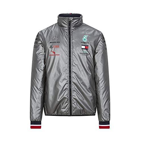 Mercedes-AMG Petronas Formula 1 Herren 2020 Team Leichte gepolsterte Jacke, Herren, silber, Medium