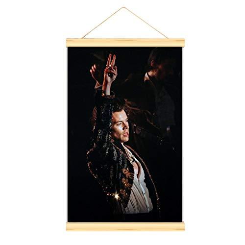 Póster de lienzo de alta calidad para colgar una imagen, tijeras de Harry Styles, mural, fácil de instalar, 30 x 45 cm