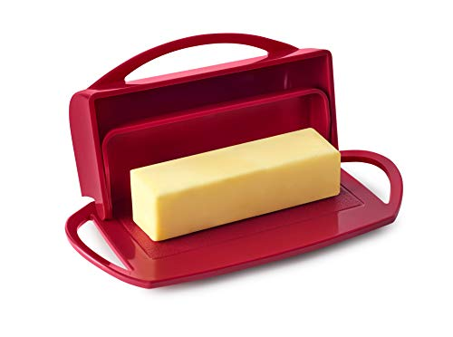 Better Dish Flip-Top Butter Dish without Spreader (Red)