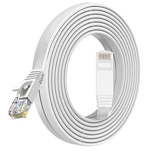 TBMax - Cable de Red Ethernet de 5 m con Conectores RJ45 para Internet, Router, módem, Smart TV, Color Blanco