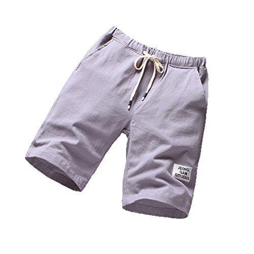NEEKY Männer Shorts Sport Herren Strandhosen Sport Atmungsaktive Modehosen Sommer Fitness Laufhosen Herren Bade Shorts Kurz Diesel(XL,Grau)