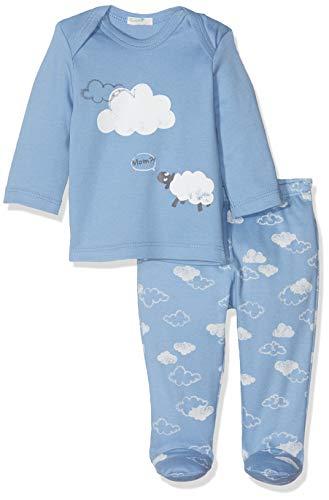 Undercolors of Benetton Baby-Jungen Lutk Fashion 2nd Del Zweiteiliger Schlafanzug, Blau (Azzurro Intenso 10h), (Herstellergröße: 50)