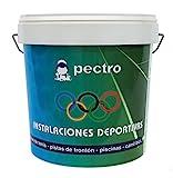 Pintura pistas deportivas PECTRO 5KG Pintura para pavimentos instalaciones deportivas en colores verde rojo gris blanco azul (Gris)
