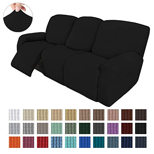 Easy-Going 8 Pieces Recliner Sofa Stretch Sofa Slipcover Sofa Cover Furniture Protector Couch Soft with Elastic Bottom Kids, Spandex Jacquard Fabric...