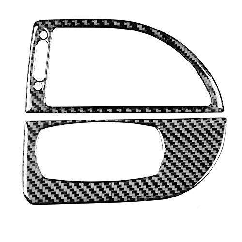 RRX Fibra de carbono faro panel interruptor marco pegatinas cabeza luz envolvente cubierta interior accesorios para BMW M6 6 serie E63 E64 2004 2005 2006 2007 2008 2009 2010 (M6 luz con ventilación)