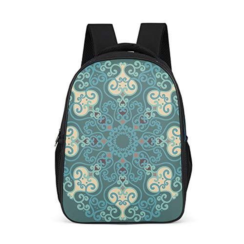 NC83 Daypacks Smaragd Mandela Laptop-rugzak, schooltas voor kinderen - mandela kunst kinderrugzakken meisjes voor you schoolrugzak