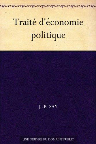 Couverture du livre Traité d'économie politique