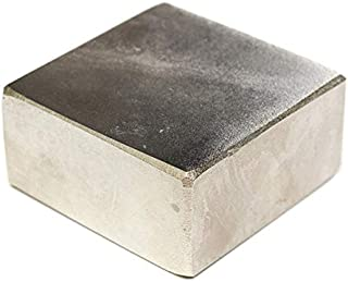 MAGNETICKS Nickel House-Hold and Industrial Magnet (50 x 50 x 25 mm, Silver)