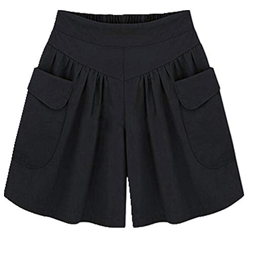 N\P Pantalones cortos sueltos de color sólido para mujer