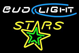 Scecent Neon Sign Bud Light Texas Stars AHL Beer Sign Flex LED Neon Light 24 Inches