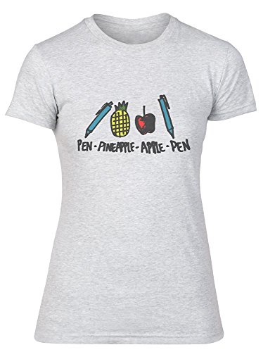 Pen-Pineaple-Apple-Pen Illustration Women's T-Shirt Medium