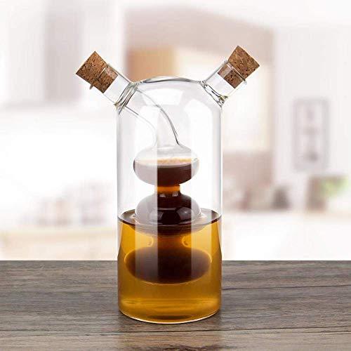 ZFFSC Keuken huishoudens, Lekvrij Glas Olie en Azijn Flessen, Glazen potten Dual Port Azijn Saus Kruiden Sesamolie Pot De kruiden fles