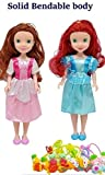 Forever Kidzz Princess Twin Sisters Dolls moveble Body with Ring and Rubber B