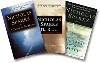 Nicholas Sparks Love Stories Three-Book Set (A Bend In the Road, The Rescue, Message in a Bottle)
