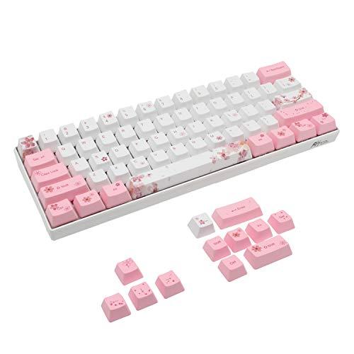 Set di Copritasti 60% PBT Profilo OEM per MX Switch Tastiera da Gioco Meccanica ANSI Layout GH60 RK61/ALT61/Annie/poker GK61 GK64 (Sakura 1)