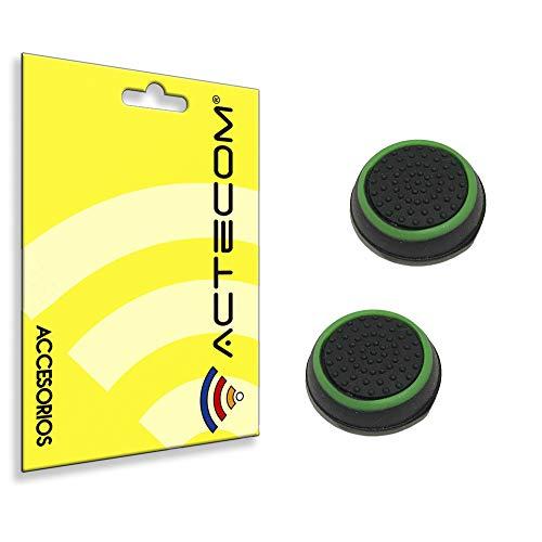 actecom 1 Par Funda de Goma Compatible con Joystick Mando Sony Playstation Dualshock 4 PS4/Slim/Pro Xbox One Eje L3 R3 Gomas (Verde)