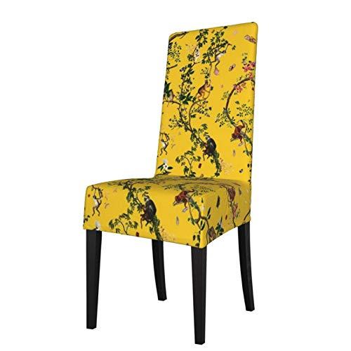 Uliykon Monkey World - Funda elástica para silla de comedor, elástica, extraíble, lavable, para comedor, hogar, cocina, hotel, ceremonia, fiesta