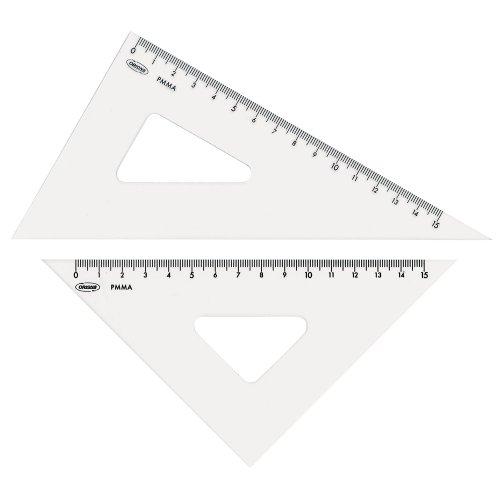 ORIONS メタクリル三角定規(目盛付) 18cm A-620