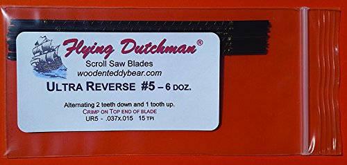 Flying Dutchman Ultra Reverse #5 Six Dozen Scroll Saw Blade Pack