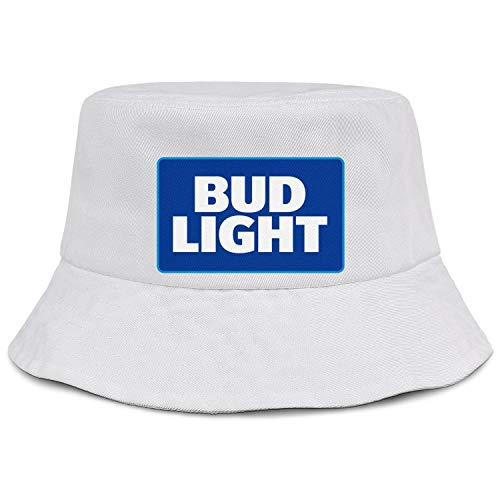 Womens Mens Bud Light Logo Bucket Hat Classic Breathable Golf Cap