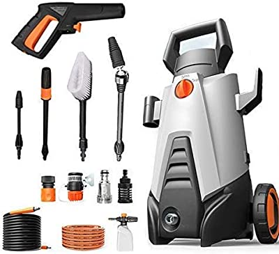 Indoor and Outdoor Cleaning Tools Mop Garden High Pressure Washer, 350W 50Bar Electric Portable Light Power Washer with Built-in 2000Mah Lithium Battery Ipx5 Waterproofing System. dljyy from dljxx