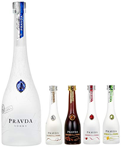 Pravda Wodka (1 x 0.7 l + 4 x 0.05 l)