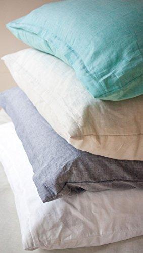 LIVING DREAMS Leinen-Baumwoll-Bettwäsche Bettbezug Bettwäsche-Set einfarbig Uni 135x200 cm kitt