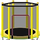 JY&WIN Trampolin-Training im Innen- oder Außenbereich - 1,2 m mit einem Gewicht von 250 kg, ideal für Eltern-Kind-Sportarten, um Energie für Kinder freizusetzen, gelb-1,4 m