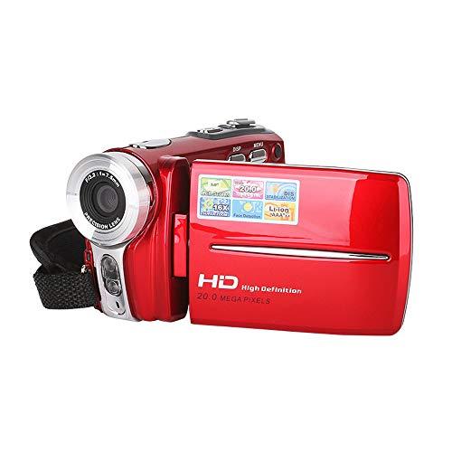 Mhwlai Fotocamera Digitale, Fotocamera Digitale HD da 20 megapixel,Red