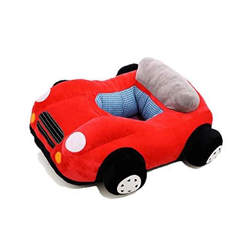 ZXYSHOP Nette Auto Sitzsack Kindersitzsack Stützsitz Plüsch Stuhl Sofa für Kinderzimmer Babyzimmer Spielzimmer Red