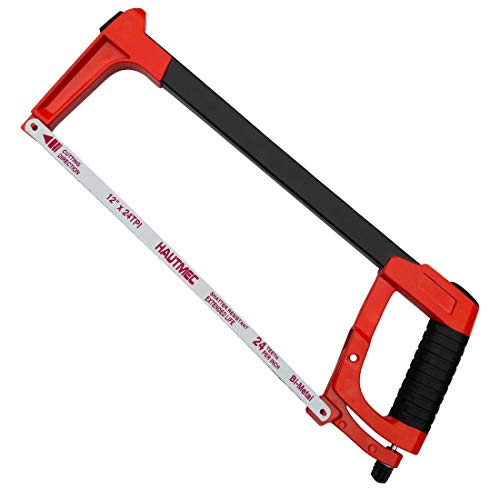 HAUTMEC Heavy Duty 2-in-1 Hacksaw Frame for Cutting Metal