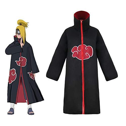 PAOFU-Naruto Akatsuki Cloak Anime Cosplay Disfraz Toga de Capa de Halloween,A,XXL