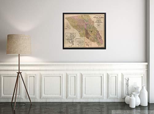 1900 Map of Sonoma County, California.Includes Inset maps of Healdsburg, Santa Rosa, Petaluma and Cloverdale.
