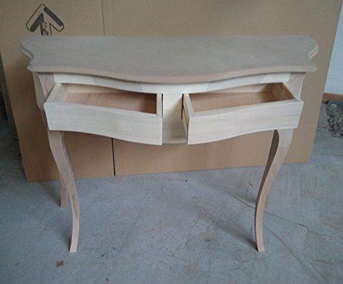 Console d'entrée en bois avec 2 tiroirs moulés provençal