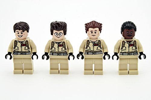 LEGO Ghostbusters - alle 4 Minifiguren aus Set 21108 (Egon Spengler, Peter Venkman, Raymond Stantz, Winston Zeddemore)