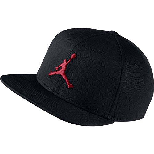 Nike Jordan Jumpman Snapback Gorra de Tenis, Hombre, Black/Gym Red, MISC