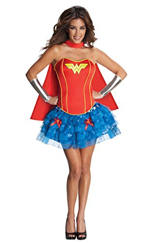 Rubie's 3880560 - Wonder Woman Corset Dress Adult Compleet kostuum X-Small rood