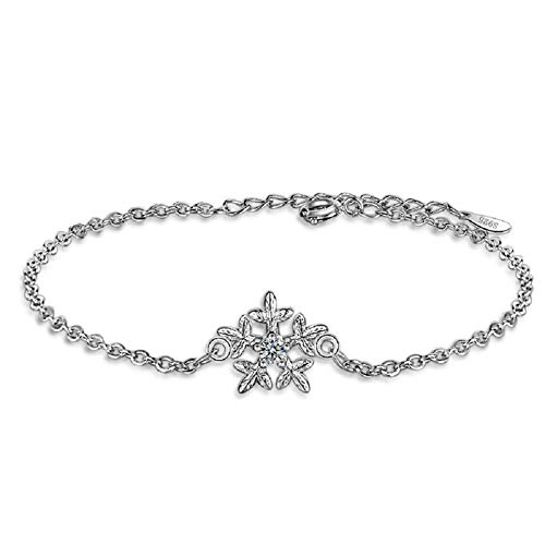 DC CLOUD Armband Armband Silber Mädchen Speacial Design Armreif Schneeflocke Kette Günstige Personalisiertes Stylish Einfaches Muttertag-Armband Armband