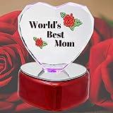 Light up LED World's Best Mom Heart Keepsake
