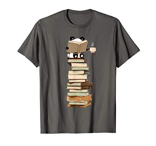 Kawaii Panda, Bücher und Tee Geschenk zum Hemd T-Shirt